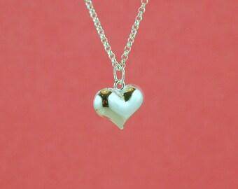 sterling silver charm - 10pcs - puffed heart pendant - sterling puffed heart charm - silver heart - sterling puff heart  pendant