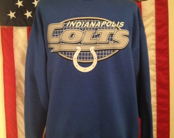 SALE Item Vintage 80s / 90s Indianapolis Colts Sweatshirt // XL // Retro // Logo 7 // NFL // Football