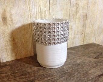 Set of 10 wedding tea light holders, winter wedding