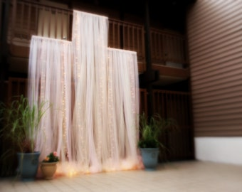 Dramatic Lighted Wedding Ceremony Backdrop, 3 Panels , 9-15 feet wide, Decorations, Baby Bridal shower, Decor, Rustic, Romantic, Weddings