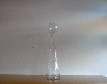 Blenko Floor Decanter Huge Blenko Crystal Decanter with Stopper Art Glass Mid Century Glass Hollywood Regency Art Glass