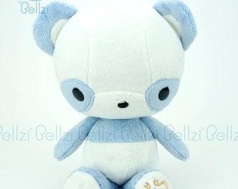 """Bellzi® Cute """"Blue"""" White Contrast Panda Plushie Toy Plush Doll - Pandi"""