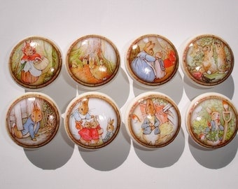 Peter Rabbit Dresser Drawer Knobs--Set of 8
