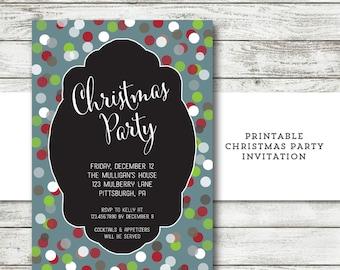 Christmas Party Invitation - Christmas Invitation - Christmas Party Invite - Christmas Party Printable - Holiday Open House - DIY Printable