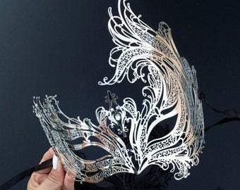 Masquerade Mask, Silver Masquerade Mask, Masquerade Ball Masks, Mardi Gras Mask, Mask, Mardi Gras Dress Mask
