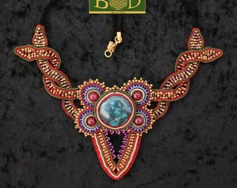 Kundalini energy soutache necklace