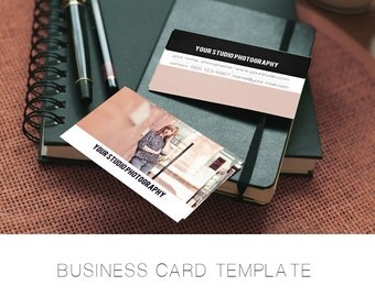 INSTANT DOWNLOAD, Photography Business Card Template, Simple, Easy to Use, Market Seniors, Families, Large Photo Back, Modern, Bold