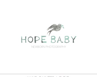 CLEARANCE - Pre made Business Logo, watercolor design, photography, watermark, painted, Newborn photography logo, maternity logo, birds