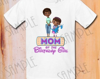 Popular items for mcstuffins iron on on etsy for Doc mcstuffins birthday girl shirt