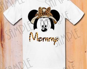 Disney Family Vacation shirt Safari Minnie Mouse Cheetah Print Custom Printable DIY Personalized digital download Animal Kingdom Shirt