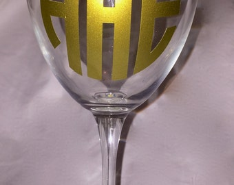 Monogrammed Personalized Wine Glass
