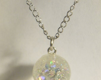 holographic sparkle pendant necklace