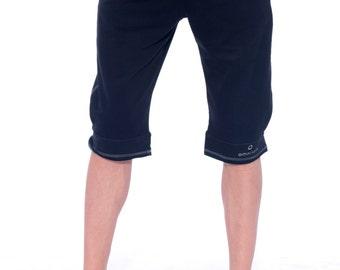 ORGANIC Cotton Mens Clothing, Yoga Shorts, Workout Shorts, Mens Shorts, Pants for Men, Gym Gifts, Capri Pants for Men, Gift for Boyfriend