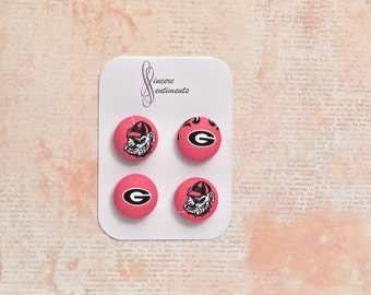 Georgia fabric button magnets