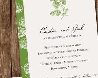 Beer Lover // Hops // Brewery Wedding Invitation