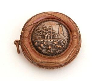 Antique Vesta, Vesta Match Safe, Round Vesta, Novelty Match Safe, Antique Smoking, Life Preserver Vesta, Antique Shipwreck, Lighthouse Vesta
