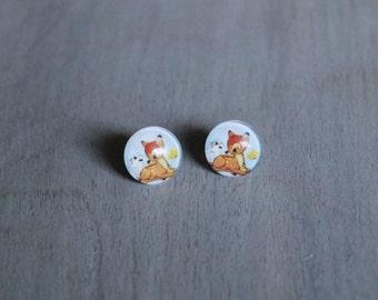 Bambi Stud Earrings 12mm