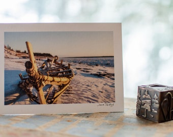 Traditional mooseskin boat, signed photograph, nature photography, Northwest Territories, Boat Frame, Mackenzie River