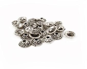 Bead Caps 11x4mm, Metal Bead Caps, Beads Finding, DIY Beads, 8pieces