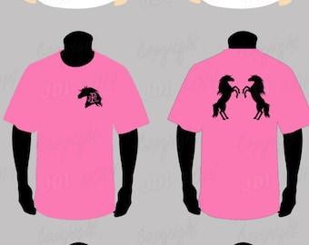 Horse Angel Wings Monogram T-shirt