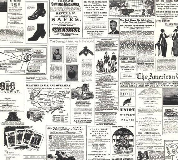 Top Vintage papier journal réplique fond décran noir et blanc TF99