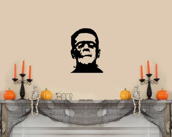 "Frankenstein Halloween Wall Decal- (8""w x 11""h)"