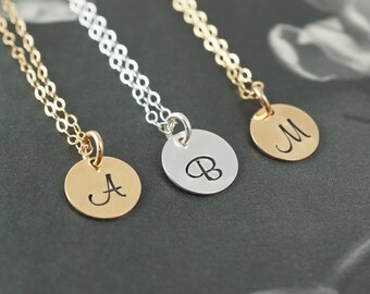 Personalized bridesmaids gifts, initial necklace, unique bridesmaids gift
