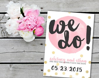 Gold Dots Save the Date
