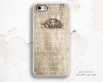 Turtle Wood Print iPhone Case - iPhone 4 Case, iPhone 4s Case, iPhone 5s Case, Turtle iPhone 5 Case Light Wood :0438