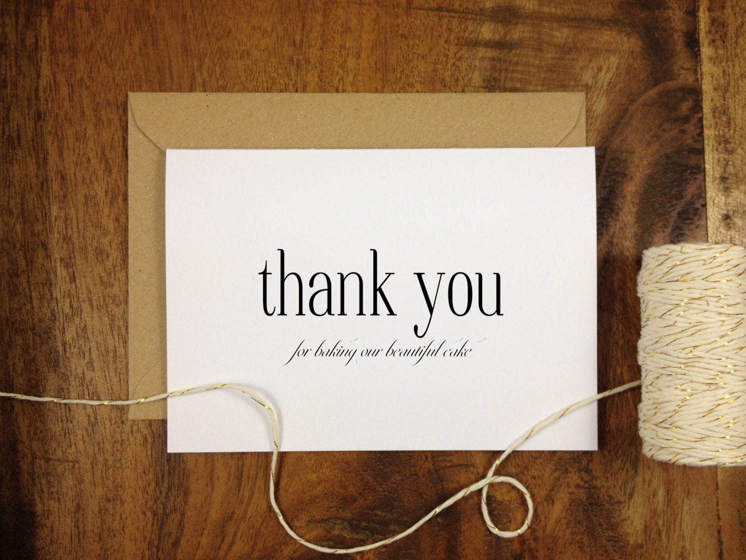 Thank You For Baking: Thank You For Baking Wedding Cake Baker Card Card By