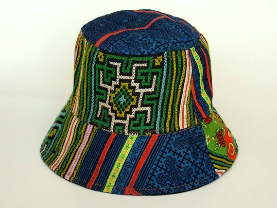 Hippie hobo mens hat womens hat bucket hat travel by for Fish hippie hats