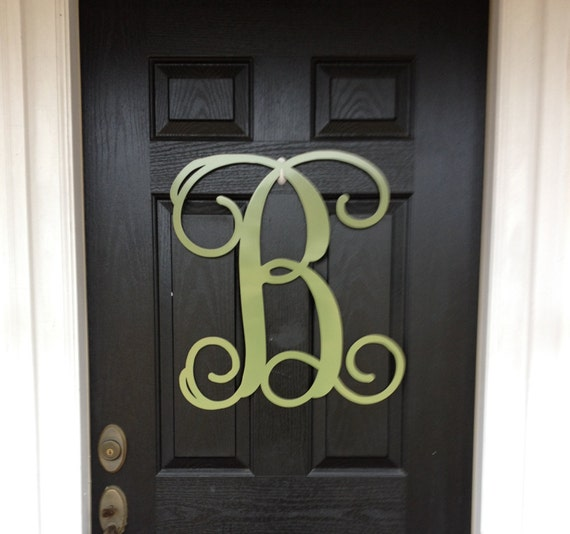 Monogram Front Door Decoration: Monogram Wreath 23 Spring Door Decor Large By Housesensations
