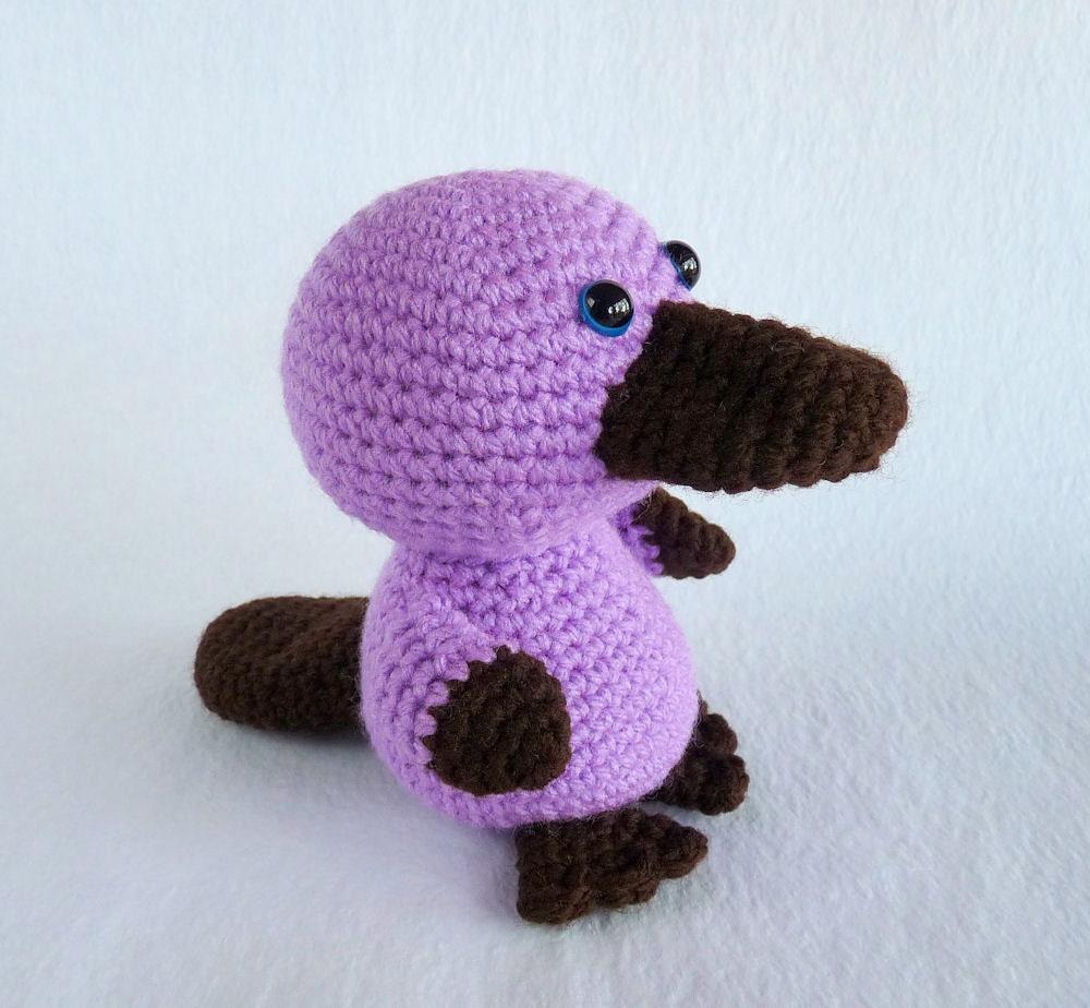 Crochet Platypus Toy Baby Platypus Amigurumi Platypus