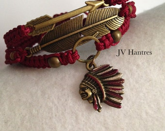 FSU/ Macrame Stack -Bronze/ Feather/Arrow/Chief   - QTY 3