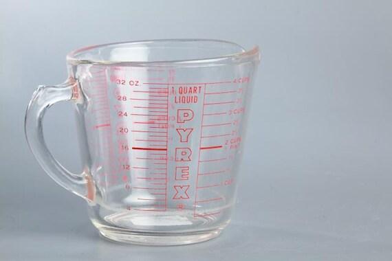 vintage pyrex glass measuring cup red. Black Bedroom Furniture Sets. Home Design Ideas