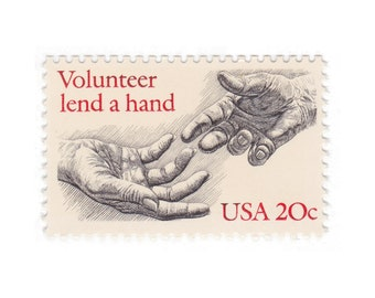 20c Volunteer Lend a Hand // 1983 Vintage Unused US Postage Stamps // Qty of 10 // No. 2039