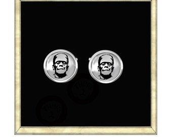 Frankenstein  - Silver Plated Cufflinks