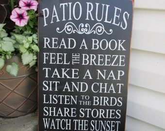Outdoor decor sign - Porch Rules - Patio Rules - Porch Sign - Outdoor porch Sign - Porch rules sign - Rustic home decor sign - Christmas