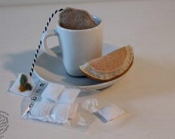 Felt Food Sugar Cubes And Lemon Pretend Food Play Tea Set-Extras
