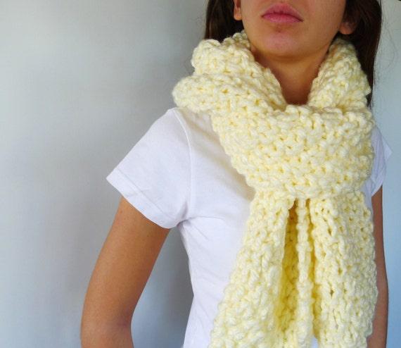 Bufanda a dos agujas punto bufanda lana gruesa por keenbyam - Puntos de agujas de lana ...
