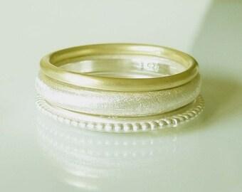 Stacking ring, stackable ring, gold ring, basic, 14 Karat, 585 yellow gold - handmade by SILVERLOUNGE