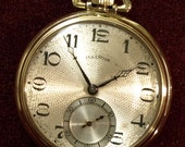 "Illinois Watch Co. 19 Jewel, Model ""Transit."" Grade 406. Size 12. Pocket Watch, Circa 1922. Gold Filled. Winds, Sets and Runs Well."