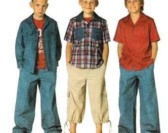 Burda Sewing Pattern 9700  Boys' Shirt  Size:  6-7-8-9-10-11-12-13-14  Uncut