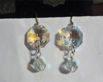 BEEutiful Swarovski Crystal Hexagon Wedding Earrings
