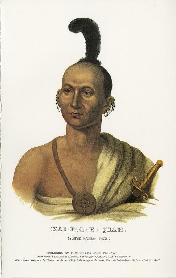 Vintage Native American Indian Print Kai Pole E Quah