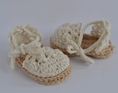 Handmade crochet baby girl espadrilles; baby sandals; baby shoes; baby espadrilles; photography prop; baby shower gift
