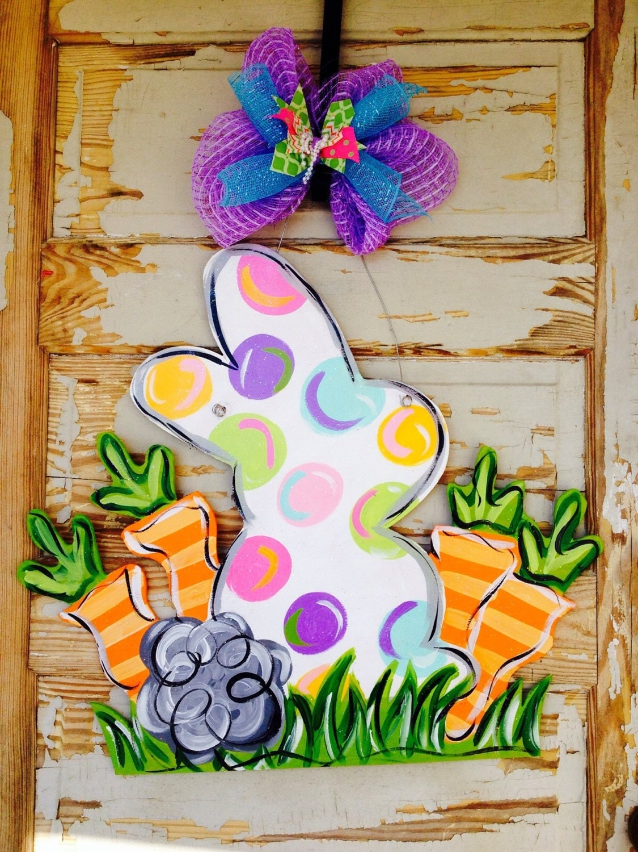 Easter Door Hanger Personalized Door Hanger By Queensofcastles