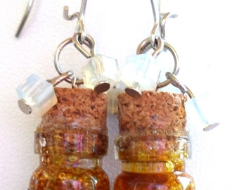 Earrings cubes, Whisky ice