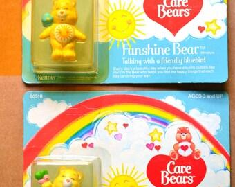 MIP Your Choice Care Bears Vtg PVC Figurine Funshine Bear Sun Sunshine Tummy Bird Butterfly 80s Kawaii Decor New Mint in Package Collectible