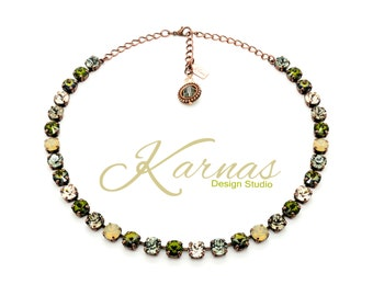 CAMO GLAM GIRL 8mm Crystal Necklace Made With Swarovski Elements *Pick Your Finish *Karnas Design Studio *Free Shipping*